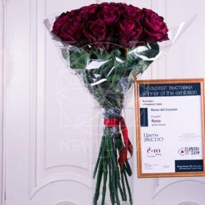 Букет 25 пурпурных роз WineHouse (Premium)