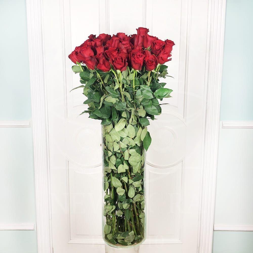 Букет 51 красная роза высотой 110см