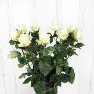 Букет 9 белых роз высотой 100см