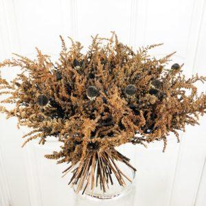 Букет сухоцветов эхинацея и астильба (рудбекия)