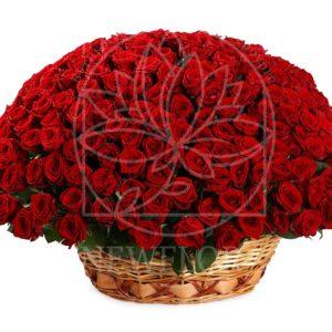 Корзина цветов 201 красная роза