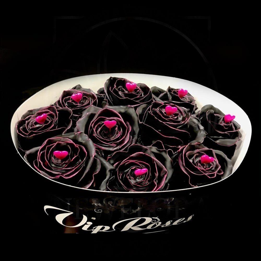 Роза натуральная восковая сердечко #2
