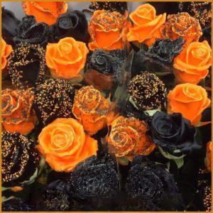 Роза натуральная восковая на Хеллоуин (Halloween)
