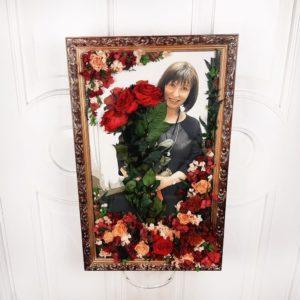 Портрет из стабилизированных цветов #1