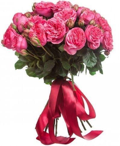 Букет 45 пионовидных розовых роз Pink Piano