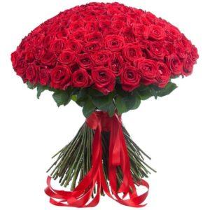 Букет 201 красная роза 70-80см