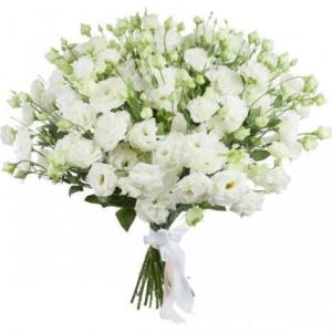 Букет 25 белых лизиантусов (эустома)