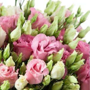 Букет 25 розовых эустом (лизиантус)