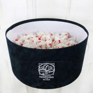 Бархатная шляпная коробка 300 конфет Raffaello (Раффаэлло)