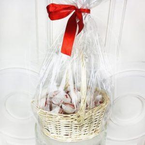 Набор 50 конфет Raffaello (Раффаэлло) в корзине 25см