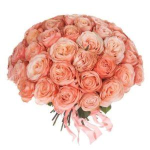 Букет 51 пионовидная роза Kahala
