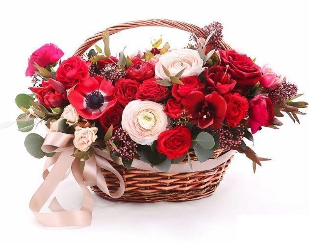 База спб, купить цветы в корзине недорого в спб