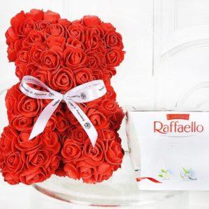 Набор raffaello + мишка из фоамирана 25см (цвет на выбор)