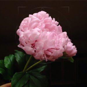 Пионы розовые керамические (фарфоровые) из полимерной глины