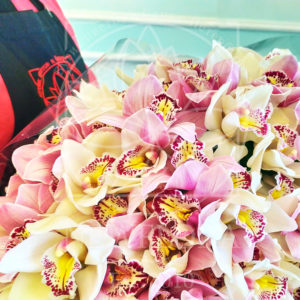 Букет 101 орхидея цимбидиум