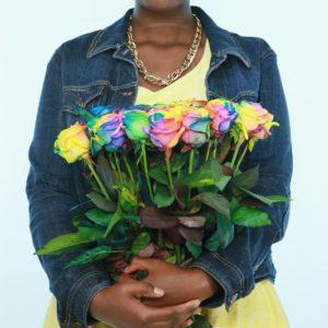 Букет 23 радужные розы