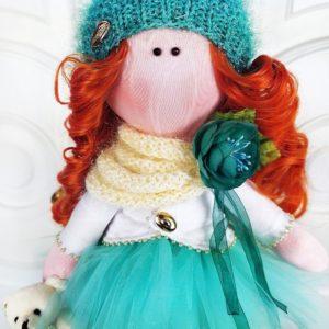 Кукла рыжая 35см
