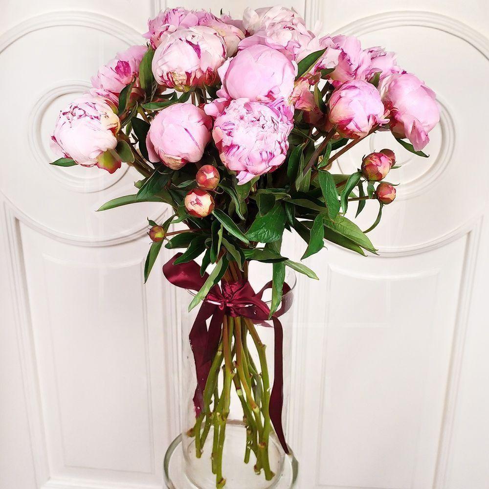 Пионы букеты купить в спб, заказ цветов