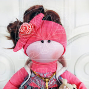 Кукла с повязкой 35см