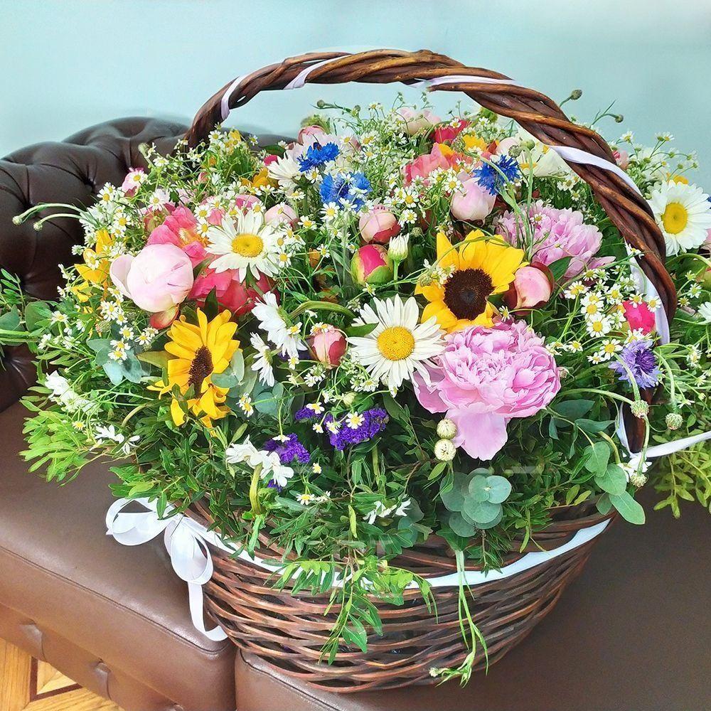 Корзины цветы по оптовым цене саратов, гвоздики