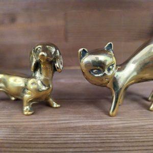 Аксессуар кулон собачка из латуни (Italy, Stilars est.1972)