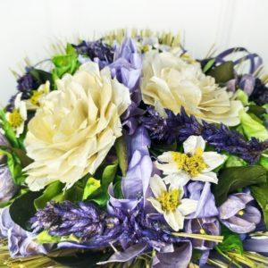 Букет сухоцветов лиловый 27×28см