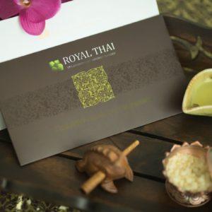 Подарочный сертификат на традиционный тайский массаж Royal Thai номиналом 3.000 руб