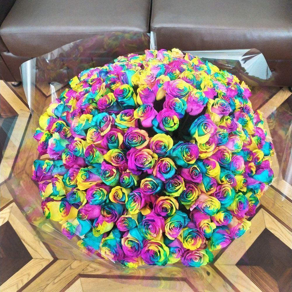 Букет 181 радужная роза