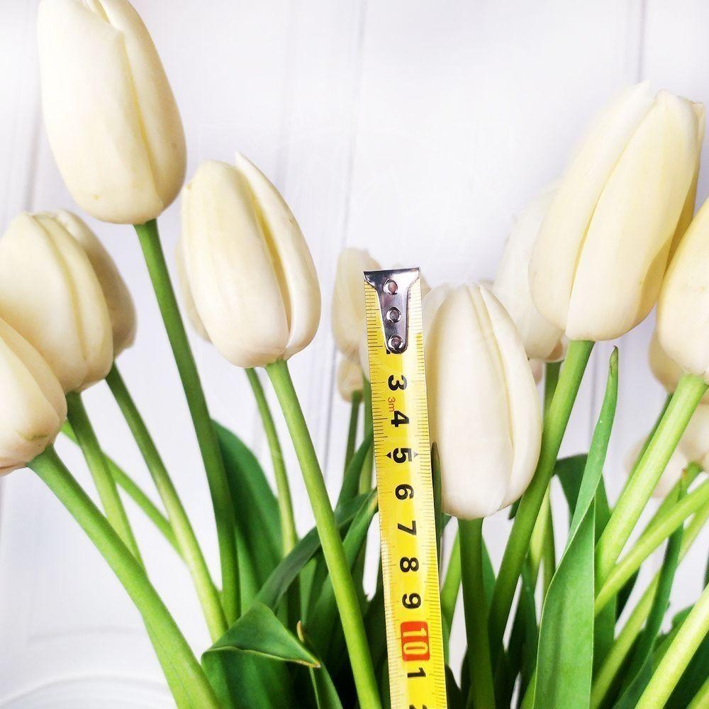 Букет 25 высоких белых тюльпанов Maureen (65-75см)