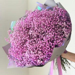 Букет облако 25 фиолетовых гипсофил
