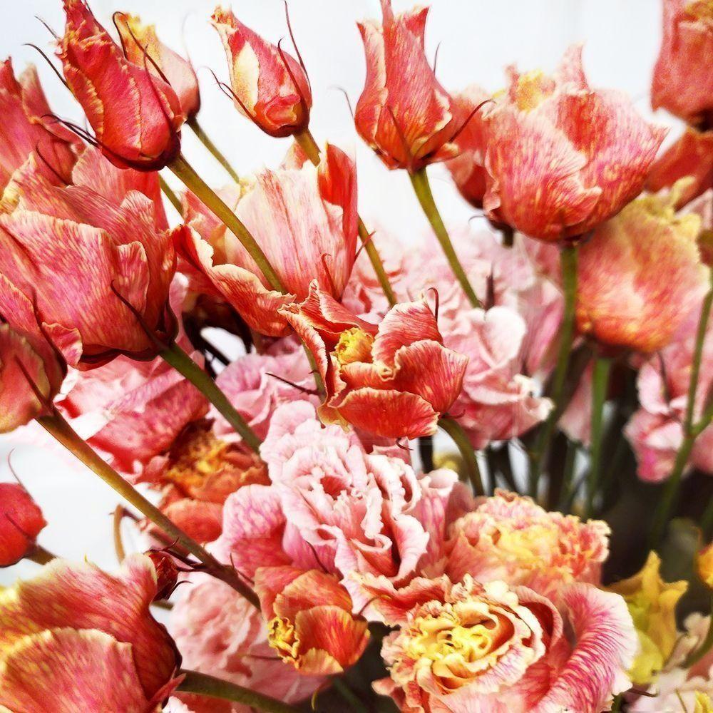 Букет 9 красных лизиантусов (tinted)