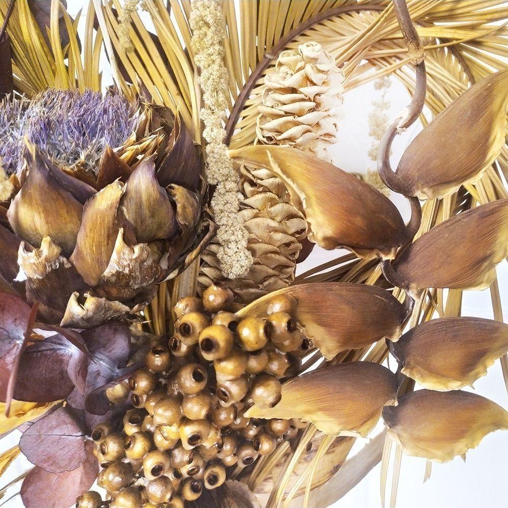 Букет сухоцветов с геликонией и тропическим эвкалиптом (заказчик COMMONS)