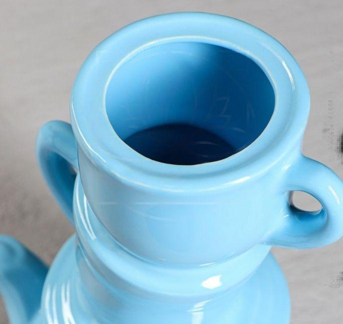 Ваза голубая «Алиса» высота 30см (керамика)