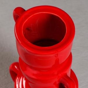 Ваза красная «Алиса» высота 30см (керамика)