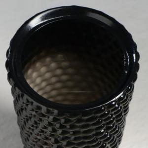 Ваза черная «бабл» высота 40см (керамика)