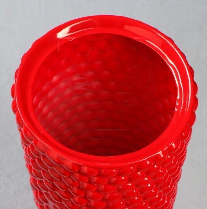 Ваза красная «бабл» высота 40см (керамика)