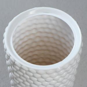 Ваза белая «бабл» высота 40см (керамика)