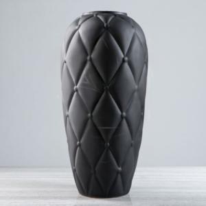 Ваза черная «честер» высота 50см (керамика)