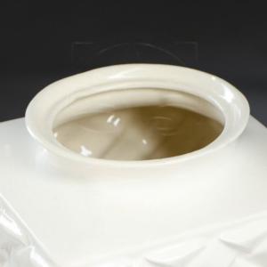 Ваза белая «ротанг» высота 40см (керамика)