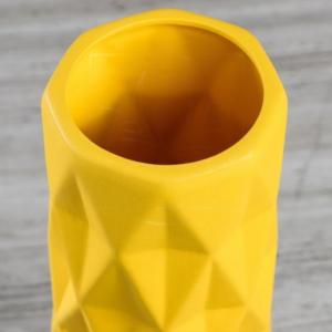 Ваза желтая «ромб» высота 40см (керамика)