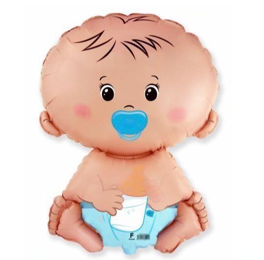 Воздушный шар с новорождённым «мальчик» (65см)