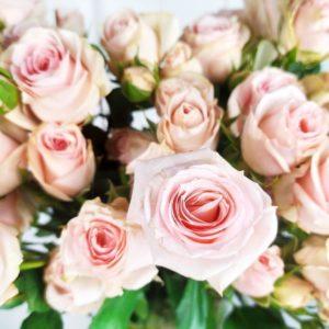 Кустовые розы розовые с крупным бутоном (поштучно)