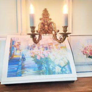 Постер картины художника Олега Тимошина «цветочная лавка»