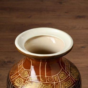 Ваза напольная «коричневая» высота 70см (керамика)