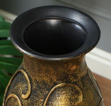 Ваза напольная «золотистая» высота 65см (керамика)